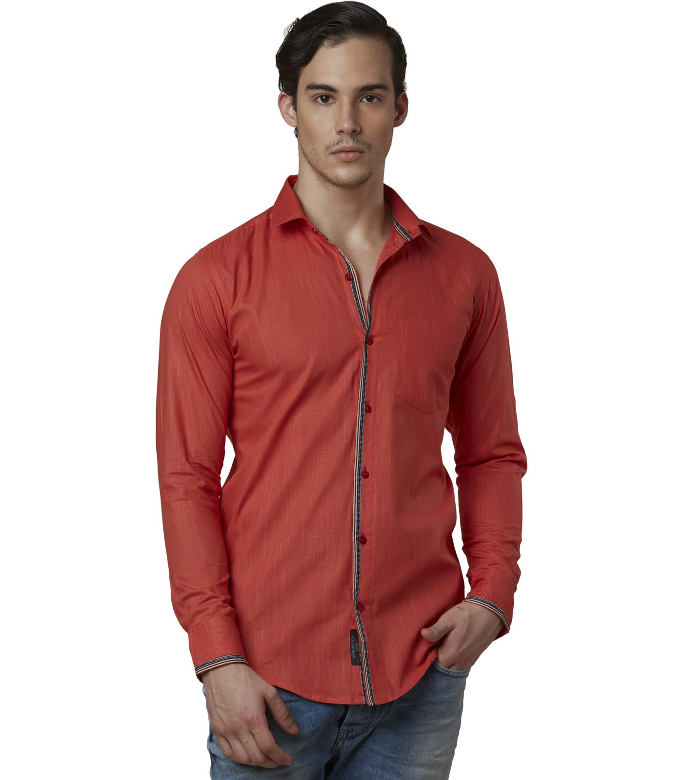 Lisova Red Slim Fit Shirt