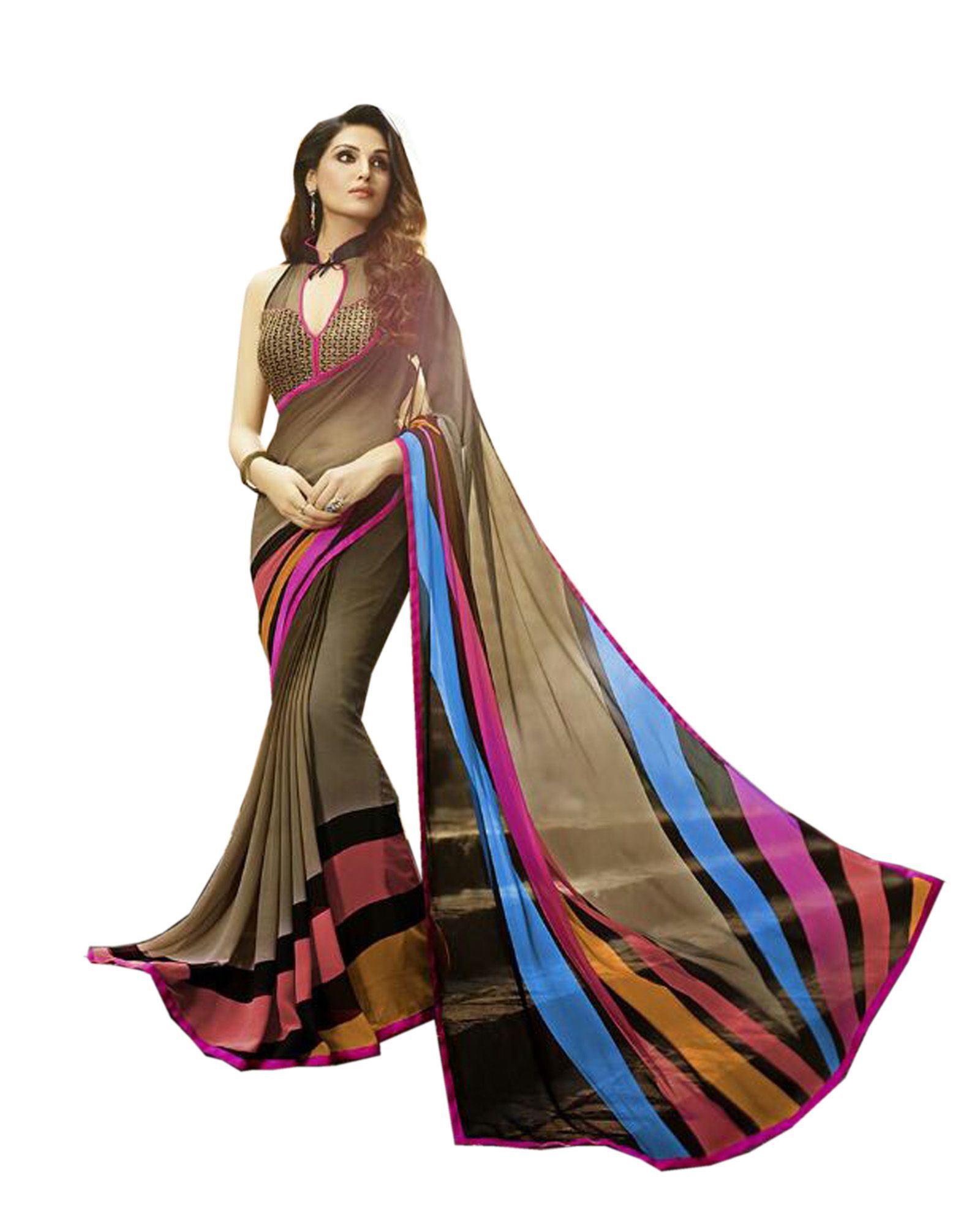 Sarees Wedding saree Multicoloured Cotton Saree
