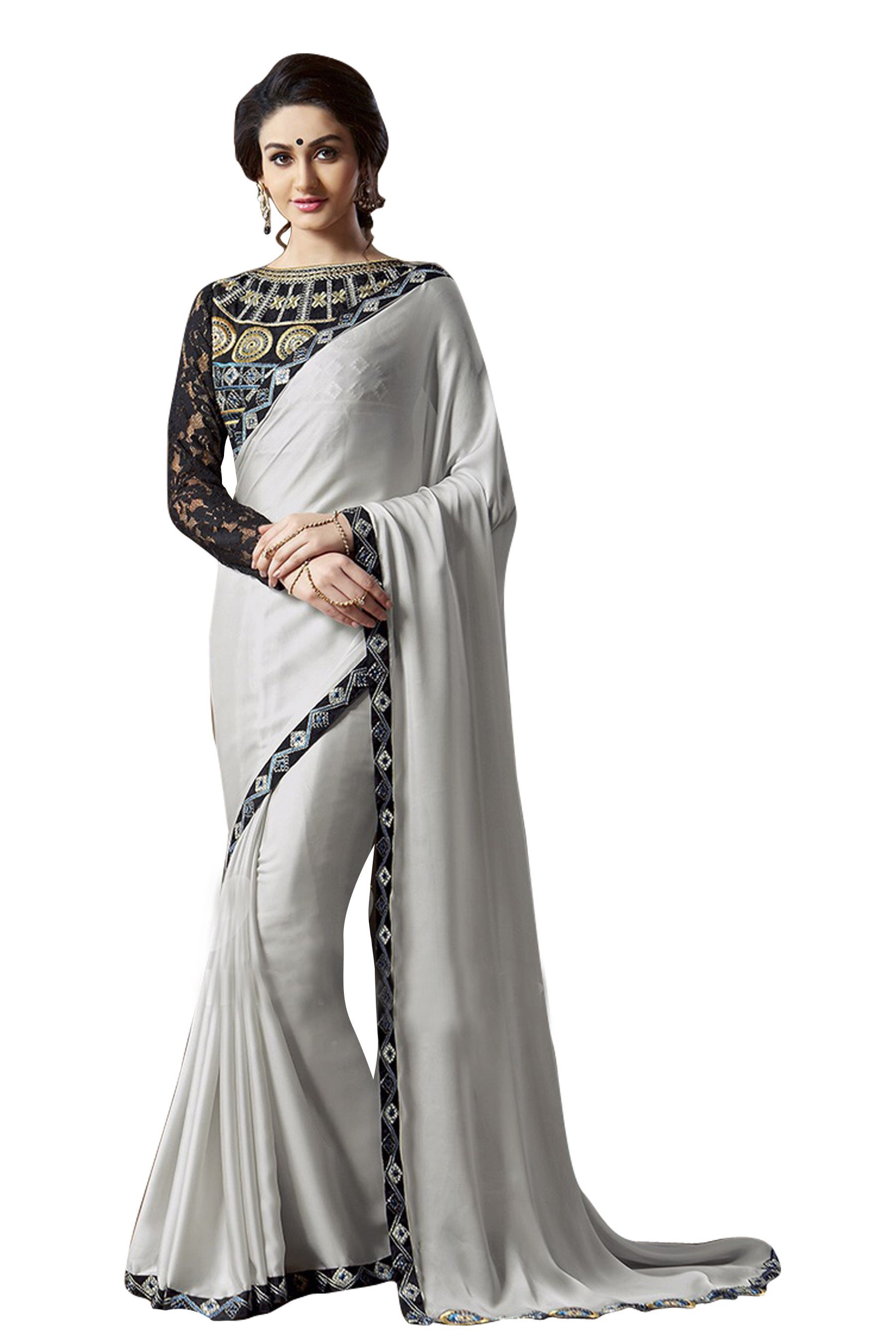 2325d03bec Silver Blouse For Saree Online