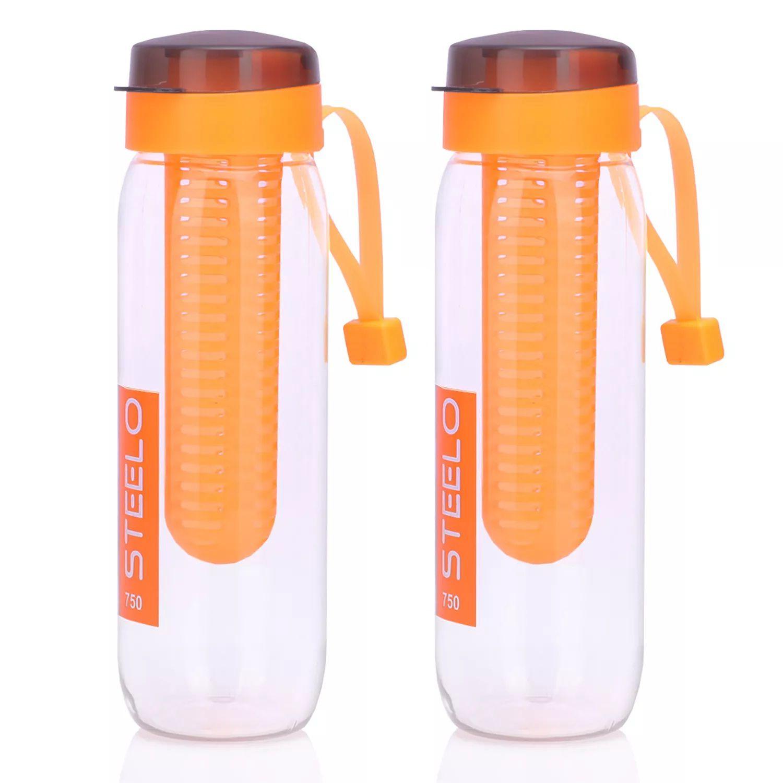 STEELO Orange 750 ml PET Fruit Infuser Set of 2