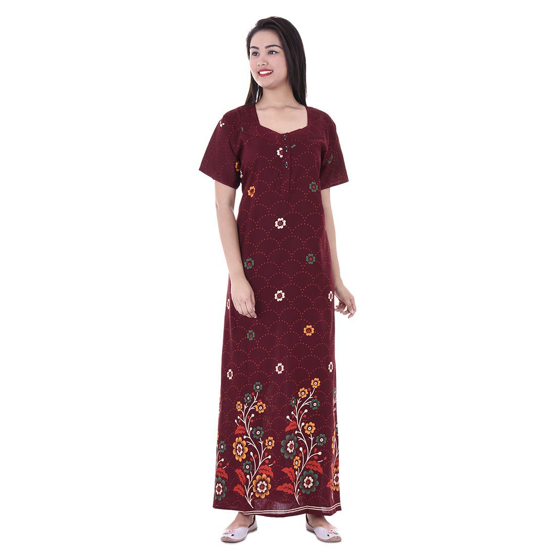 Indian Style Hot Looking Women Nightwear Gown / Bikini Cover