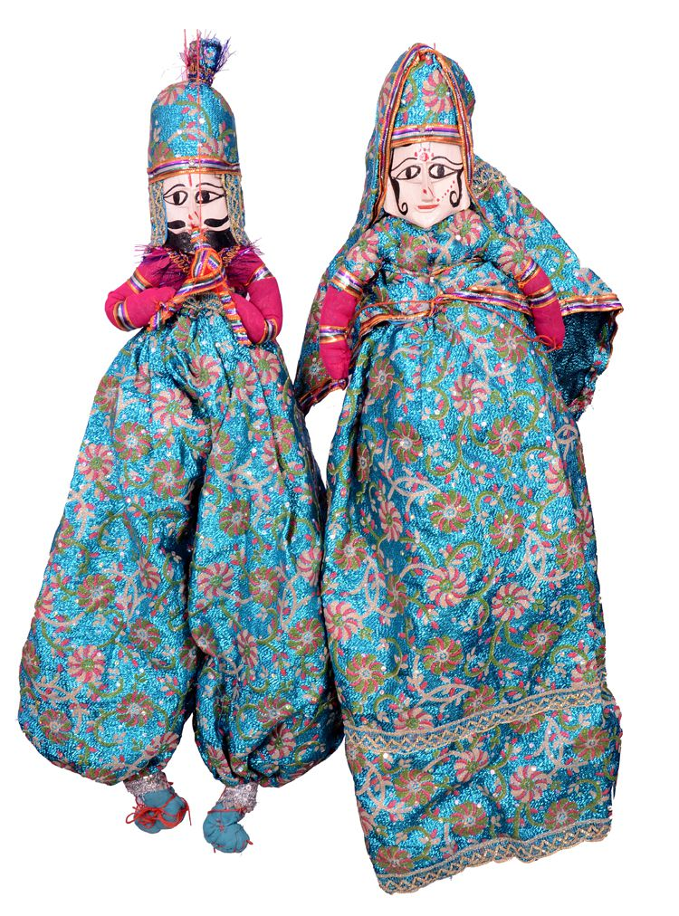 Apratim Fabric Puppet Dall Wall Sculpture Multi - Pack of 1