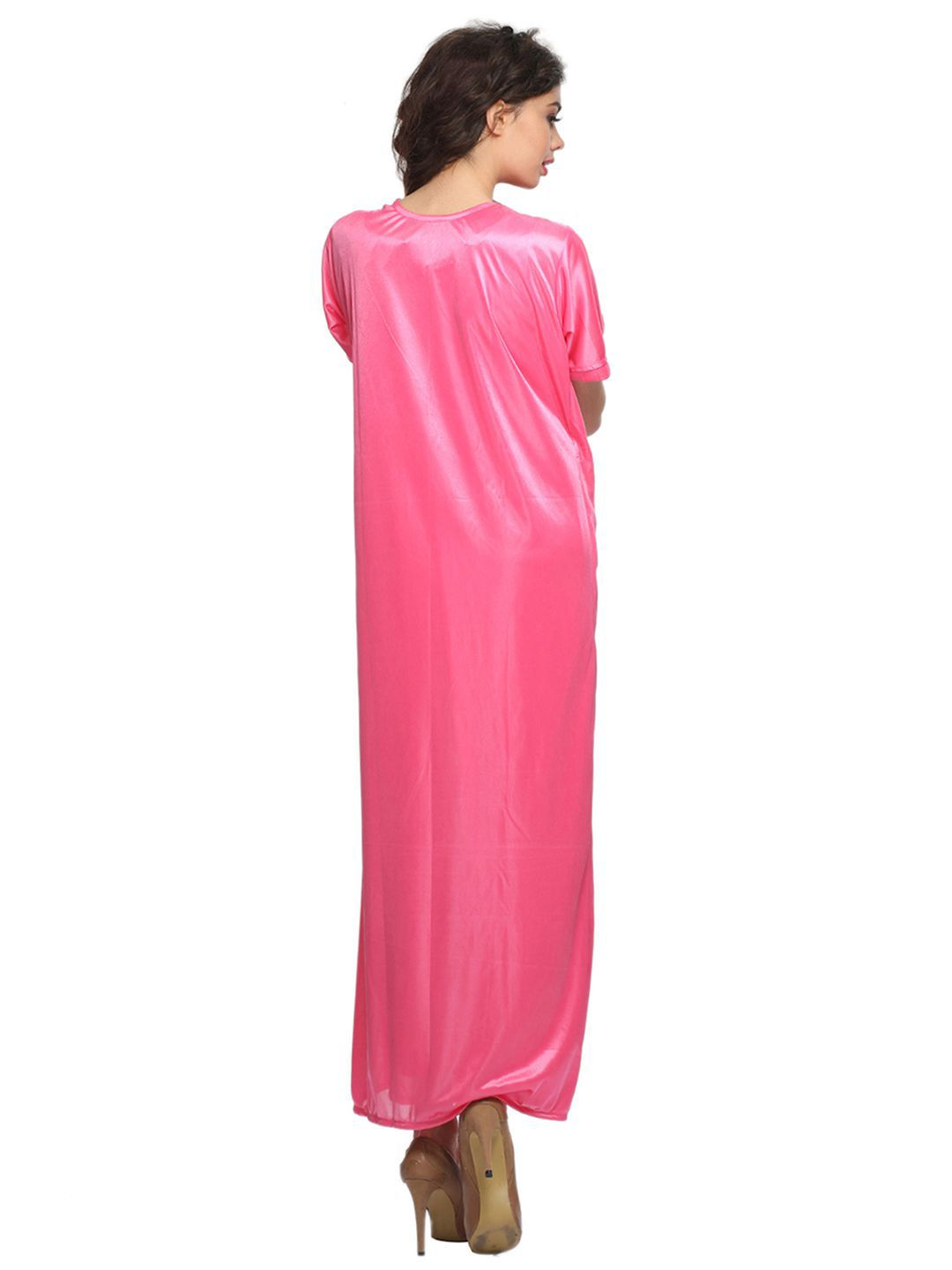 cf238eb5bd Buy Clovia Satin Nighty   Night Gowns - Pink Online at Best Prices ...