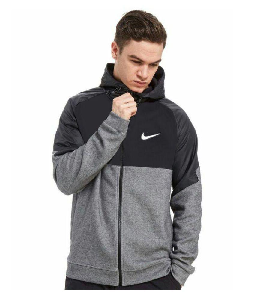 Nike Black Cotton Warm Sweatshirt