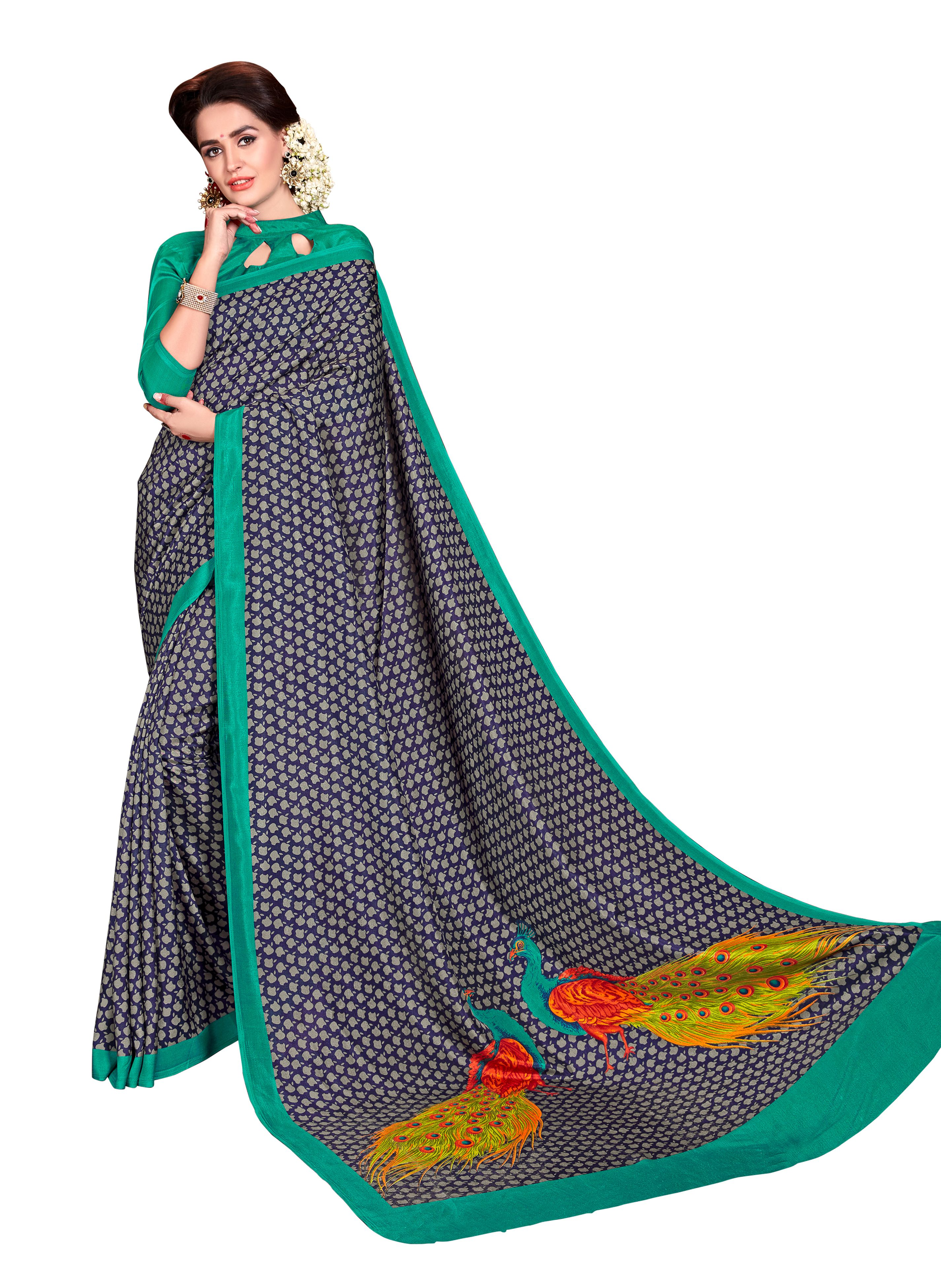 Vimla Multicoloured Mysore Silk Saree