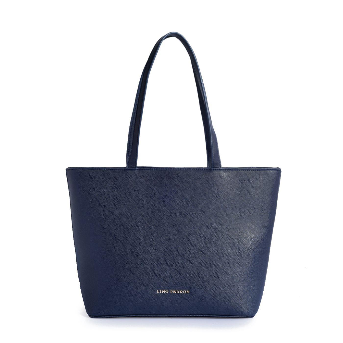 Lino Perros Navy Artificial Leather Shoulder Bag