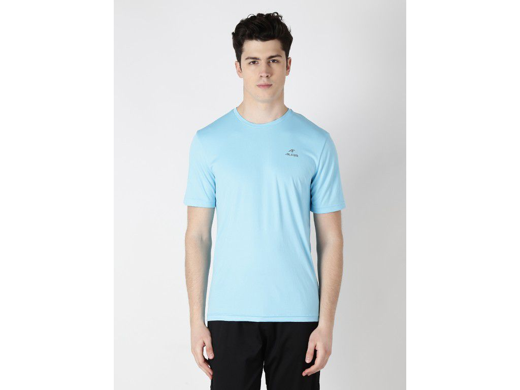 Alcis Mens Blue Solid Tshirt