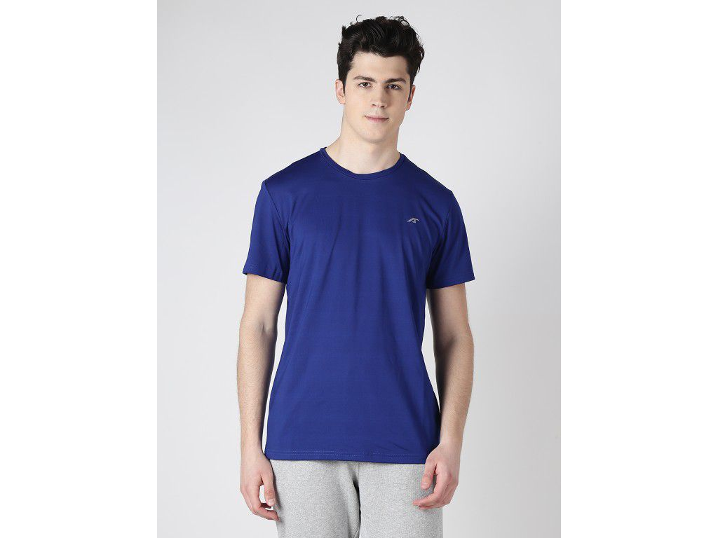 Alcis Mens Navy Blue Solid Tshirt