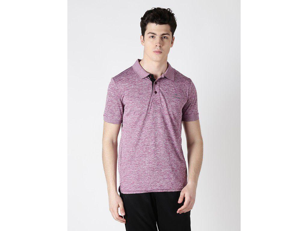 Alcis Mens Purple Solid Polo Tshirt