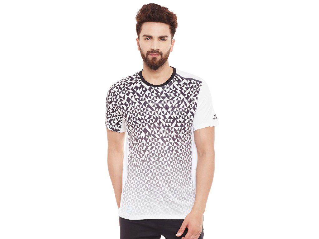 Alcis Mens White Printed Tshirt