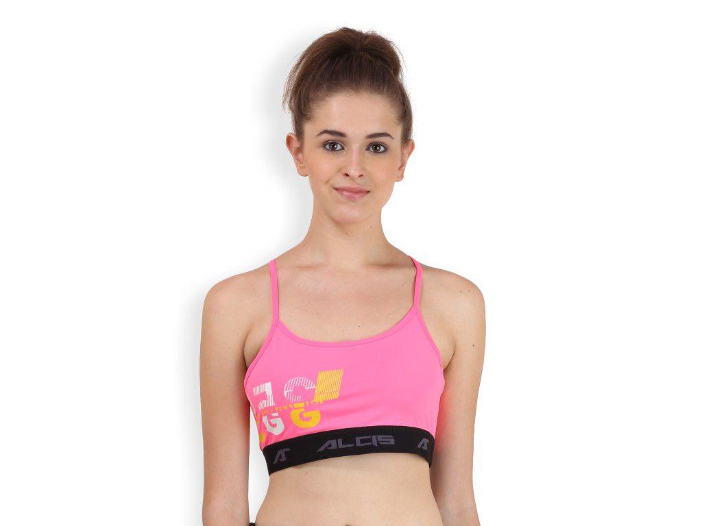 Alcis Womens Pink Printed Bra Top