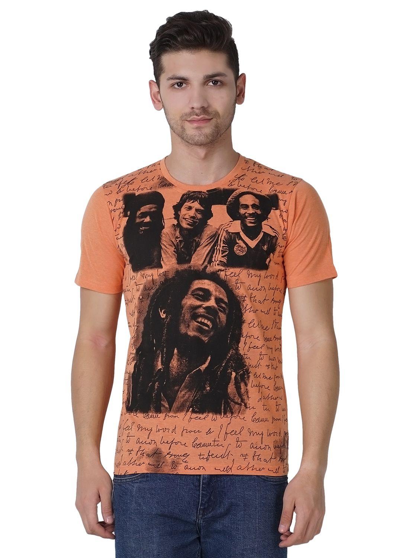 Maggivox Peach Round T-Shirt Pack of 1