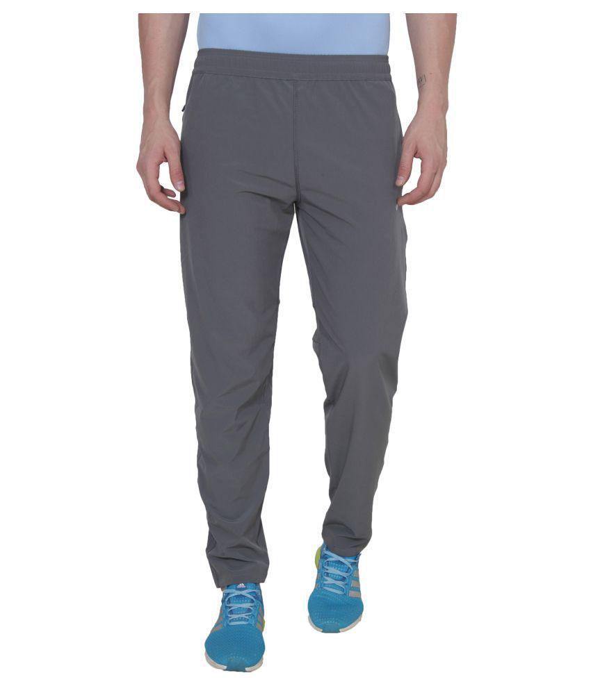 Nike Grey Polyester Lycra Trackpants