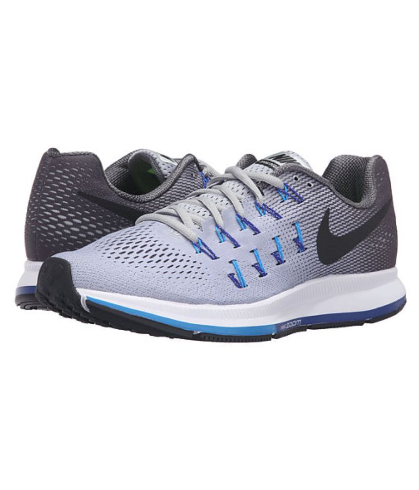 4fd3ea38d0 Nike Zoom Pegasus 33 Silver Running Shoes - Buy Nike Zoom Pegasus 33 ...