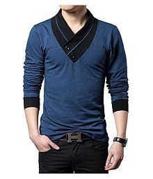 Try This Blue V-Neck T-Shirt