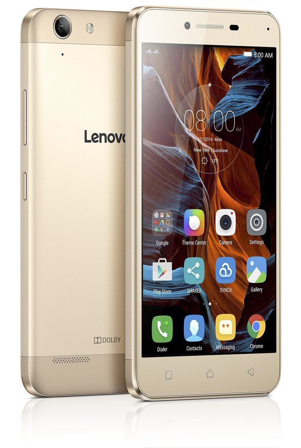 certified used lenovo k5 a6020a40 2gb 16gb 16gb gold 2 gb