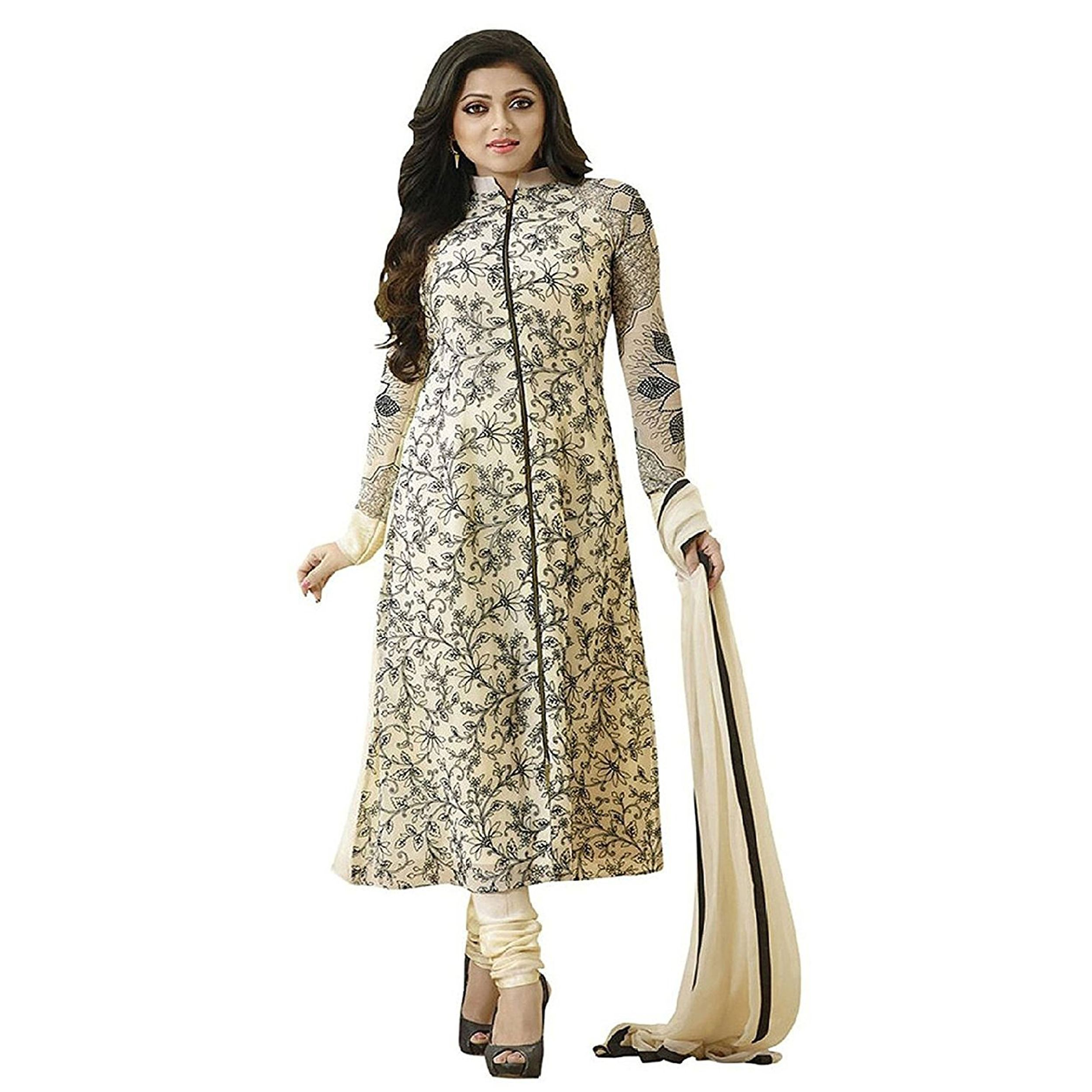 b302c80a17550 Latest Designer Cream Neck And Long Salwar Suit for women   girls party  wear For Girls For Specail Uses In wedding