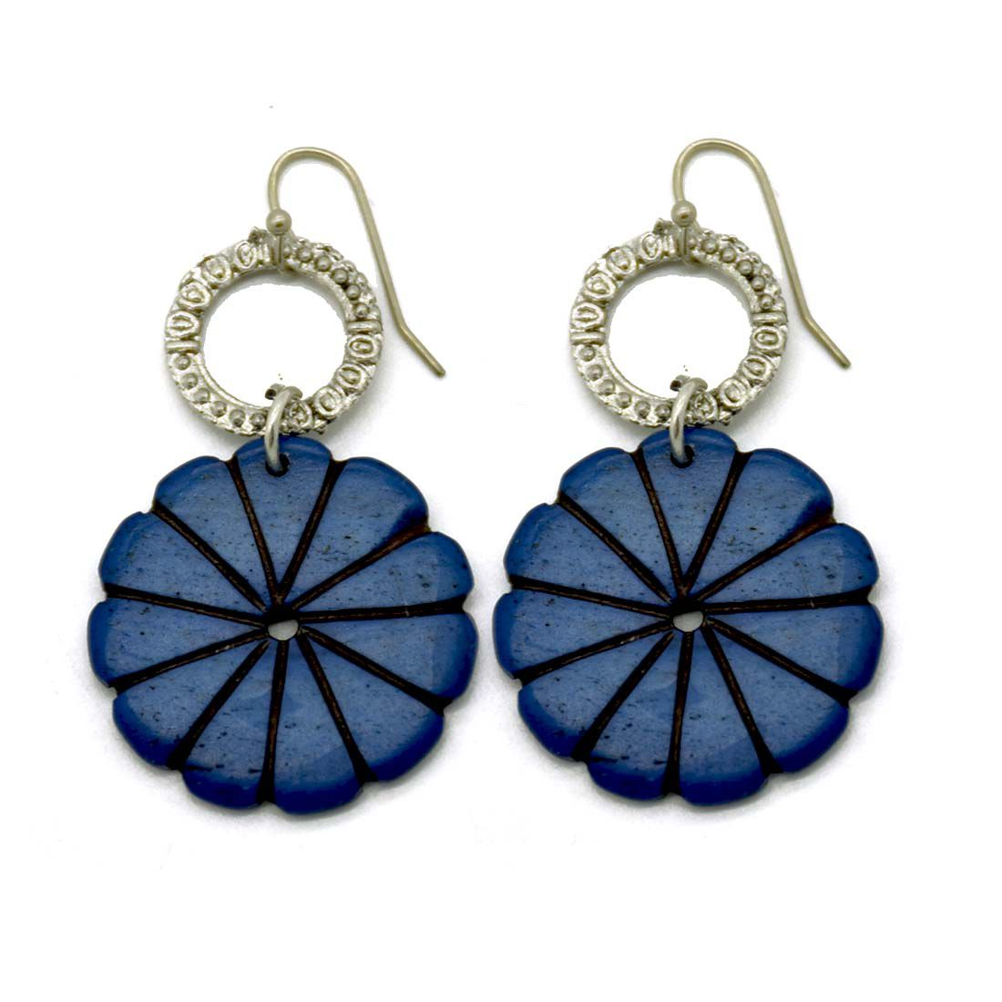 Bone Carving Blue Floral Earrings Buy Bone Carving Blue Floral Earrings Online At Best Prices In India On Snapdeal