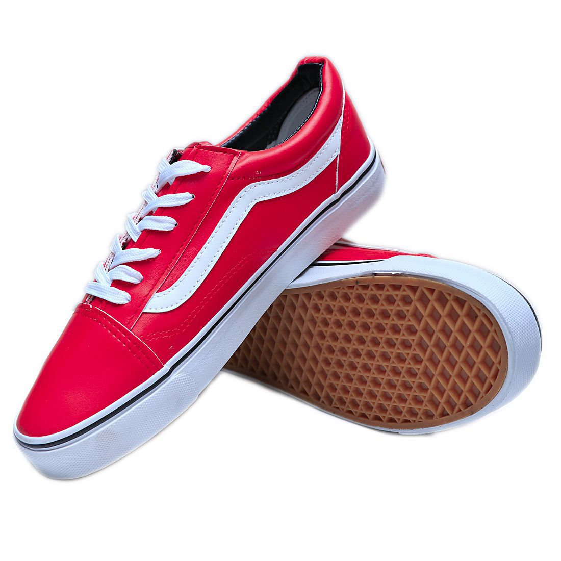 VANS OLD SKOOL FASHION LEATHER Sneakers Red Casual Shoes - Buy VANS ... 50b2989a6