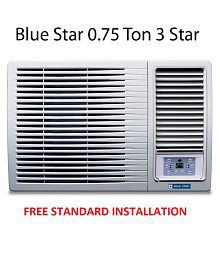 Blue Star 0.75 Ton 3 Star 3WAE081YDF Window Air Conditioner White(2018 BEE Rating) Free Standard Installation