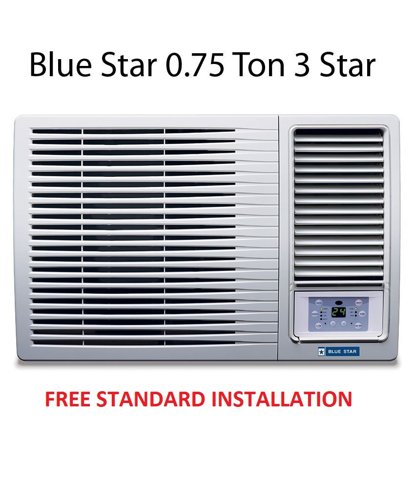 blue star 0 75 ton 3 star 3wae081ydf window air conditioner white rh snapdeal com