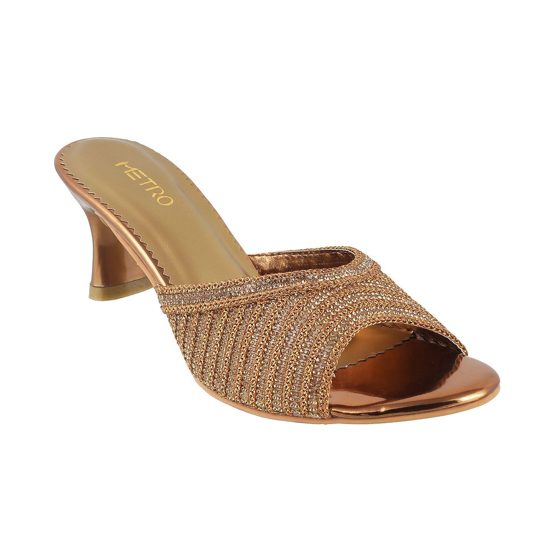 METRO GOLD Stiletto Heels