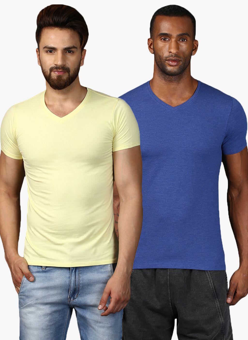 MKH Multi V-Neck T-Shirt Pack of 2