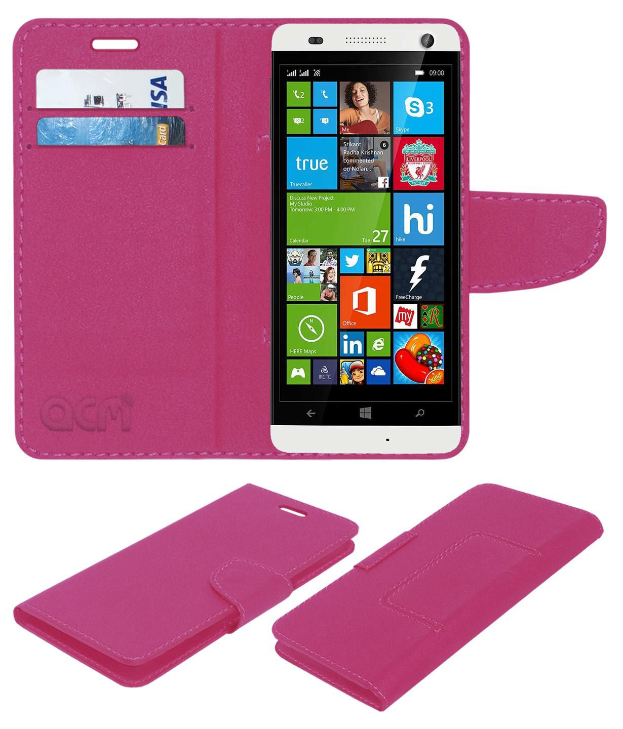 Xolo Q1000 Flip Cover by ACM - Pink