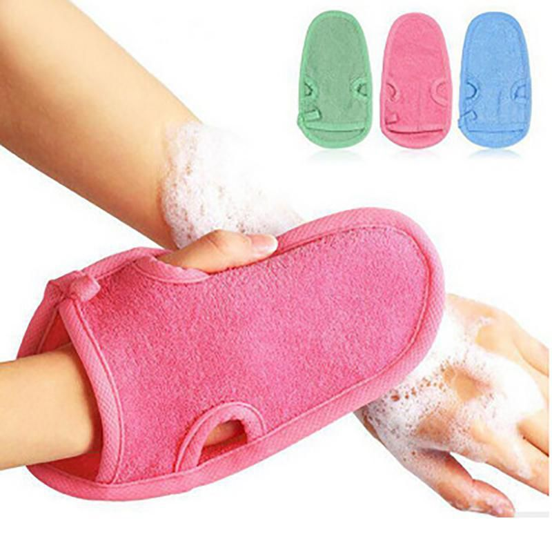 WowObjects-Shower Gloves To Wash Skin / Bath -Pack of 1