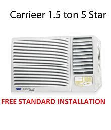 Carrier 1.5 5 Star Estrella Window Air Conditioner(2016-17 BEE Rating) Free Standard Installation