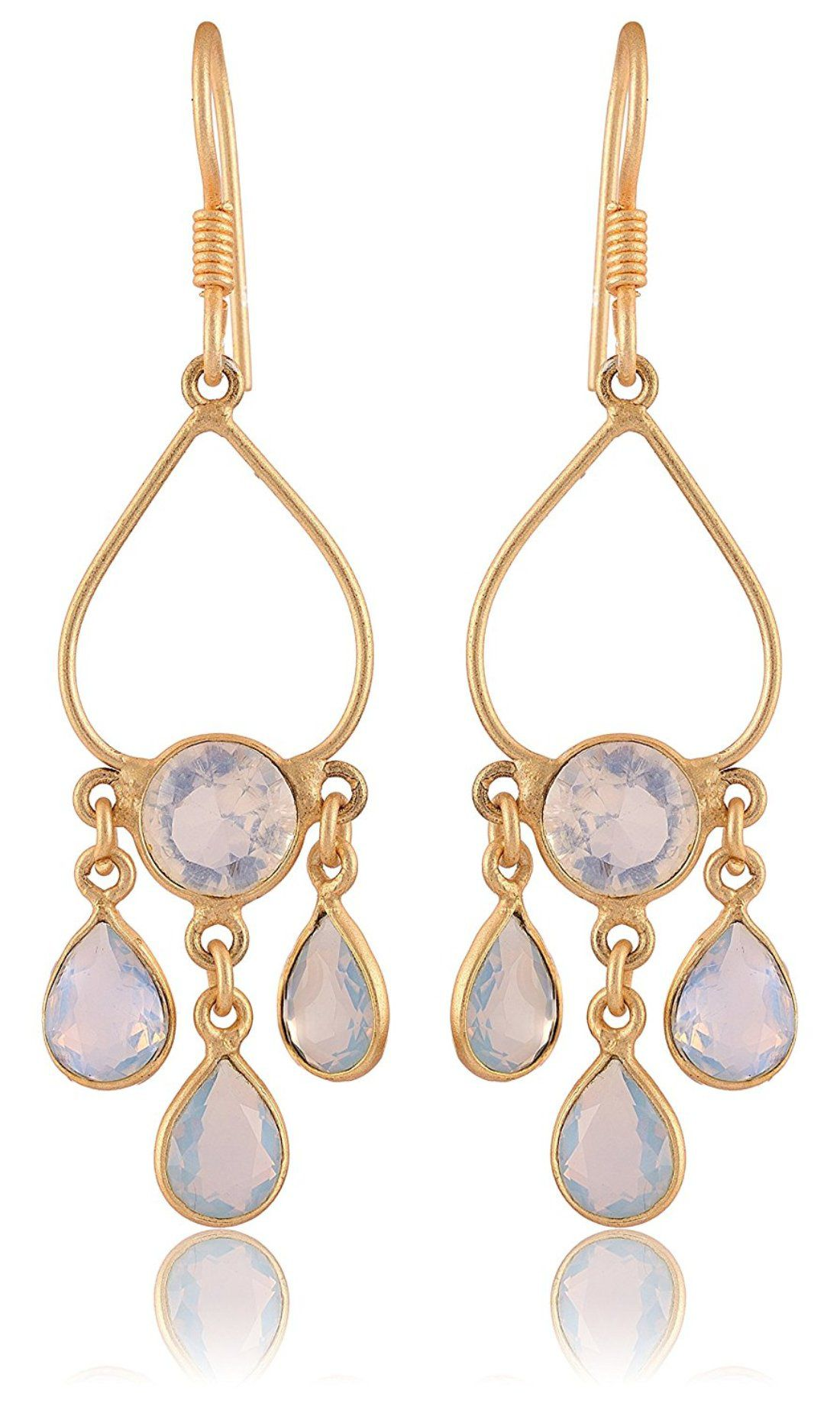 Fashion For Sure Gold 925 SILVER Dangle & Drop Earrings for Women (E314)