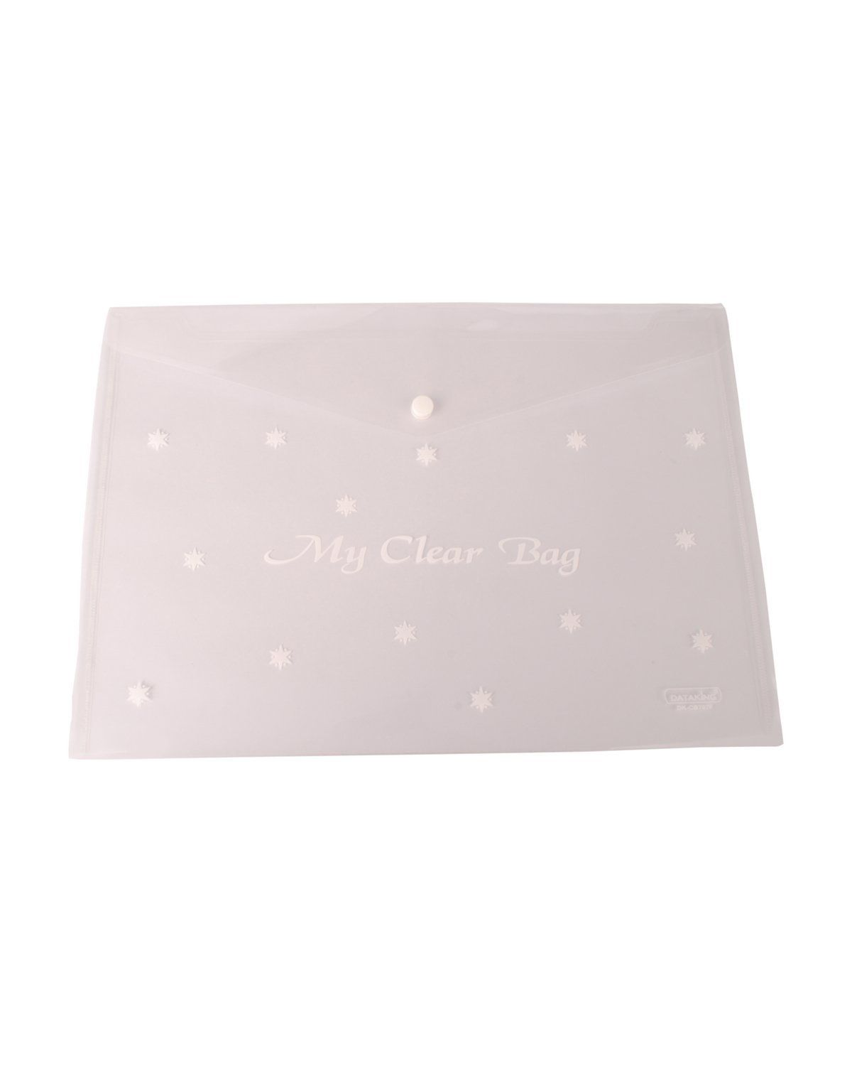 DataKing My Clear Bag With Star Print,, Set Of 12, Color: Natural, Size: FC.