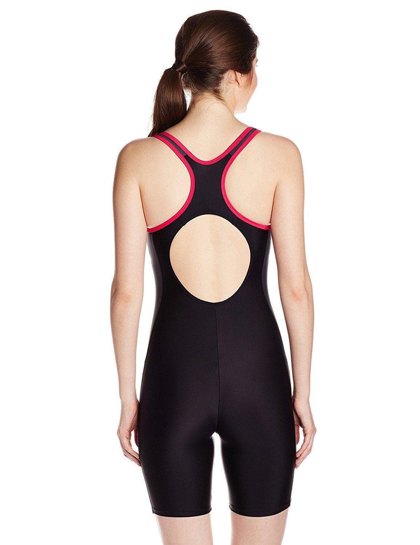 4778f63c65 Speedo Female Swimwear Essential Splice Muscleback Legsuit 40  Buy ...
