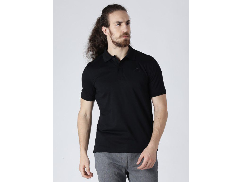 Alcis Mens Solid Black Polo T-Shirt