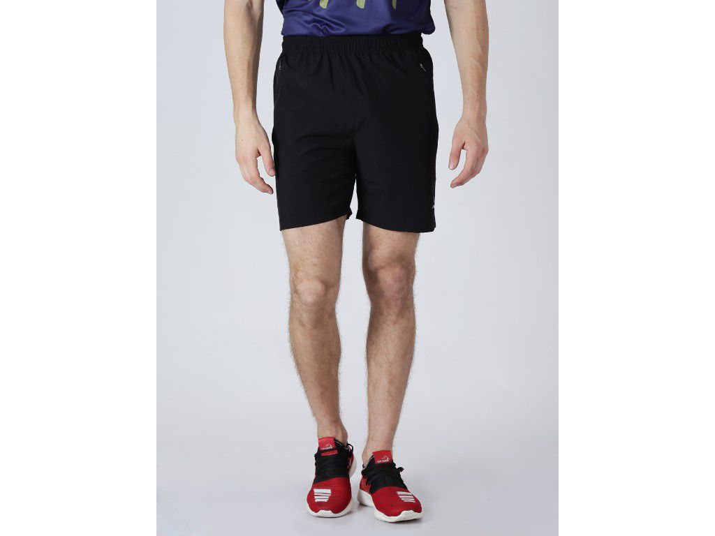 Alcis Mens Solid Black Shorts