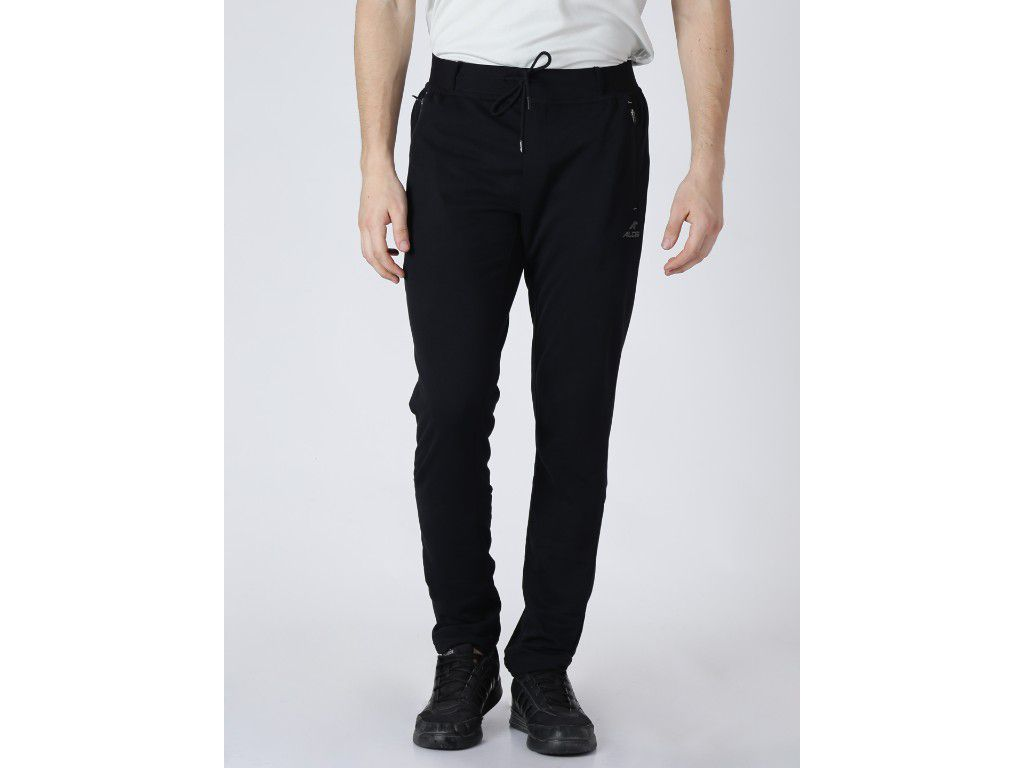 Alcis Mens Solid Black Trackpant