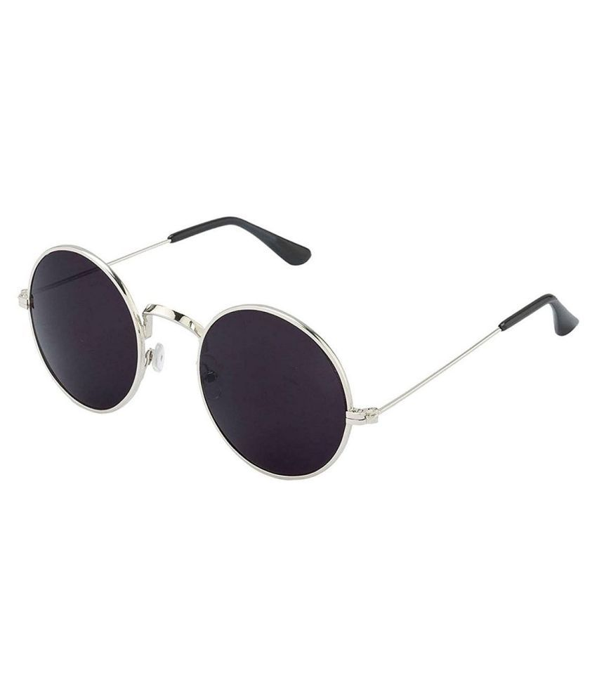 3345f4e48d Eagle Black Round Sunglasses ( Gandhi Silver frame ) - Buy Eagle Black  Round Sunglasses ( Gandhi Silver frame ) Online at Low Price - Snapdeal