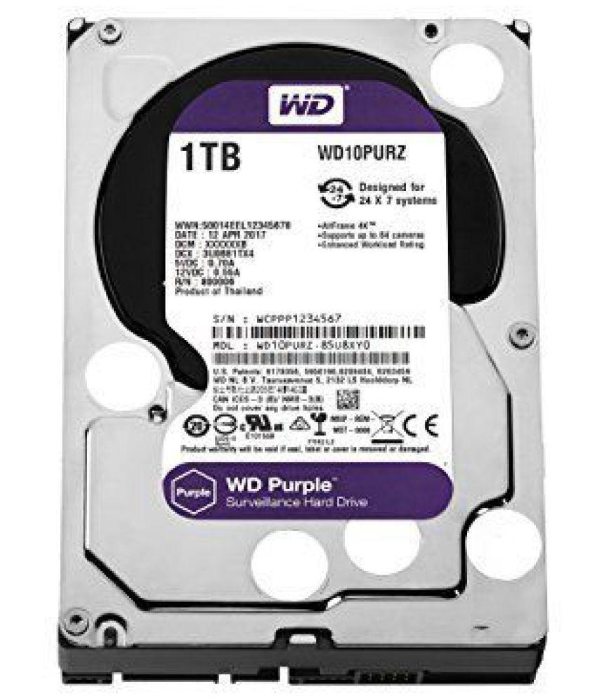 Western Digital WD10PURZ 1 TB Internal Hard Drive Internal Hard drive
