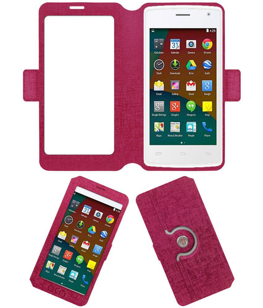 Fly Snap Flip Cover by ACM - Pink