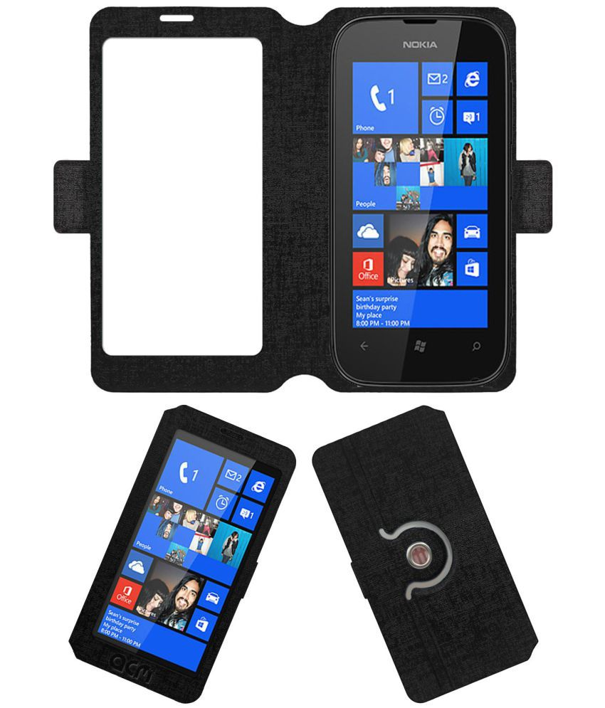 Nokia Lumia 510 Flip Cover by ACM - Black