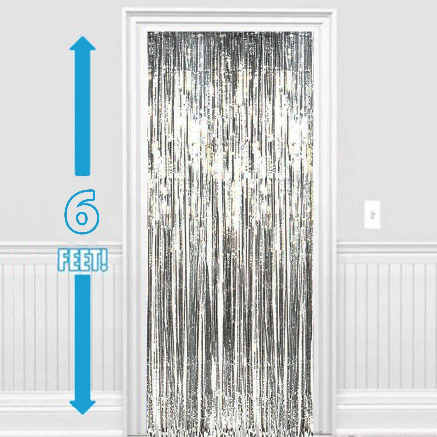 foil dp amazon curtain pkg metallic backdrop nl kitchen fringe curtains com hot x pink feet home