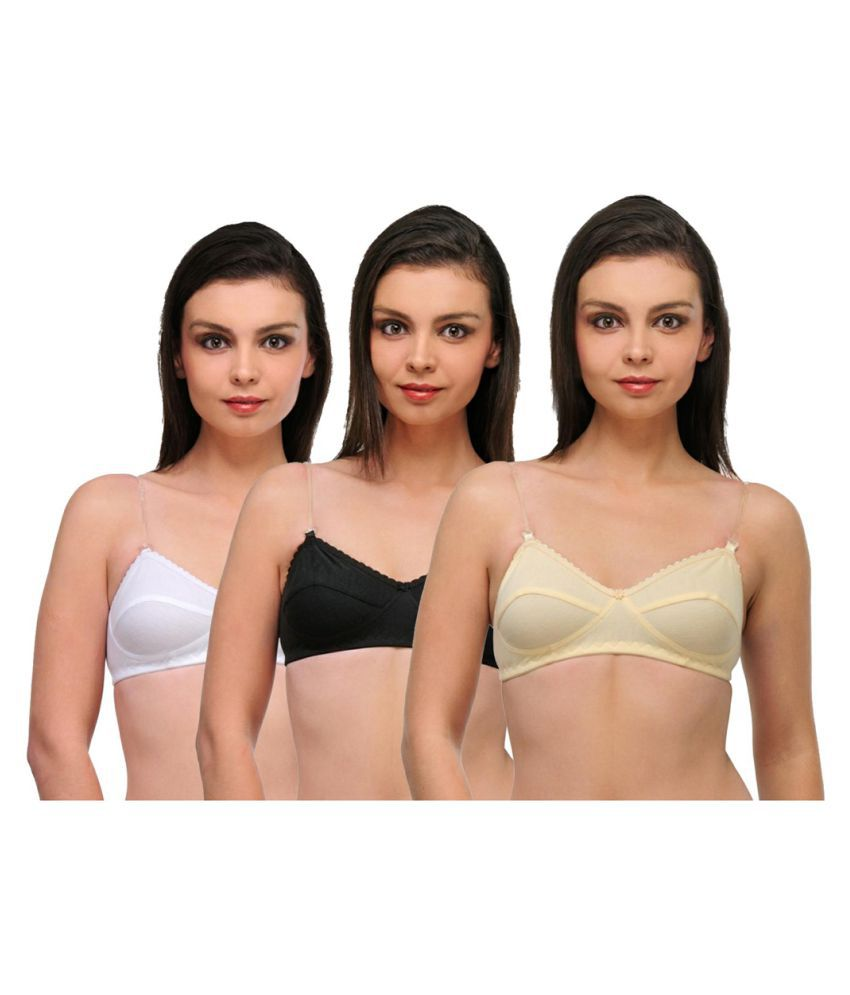 55b70c4c9 Buy mj store Cotton Lycra T-Shirt Bra - Multi Color Online at Best Prices  in India - Snapdeal