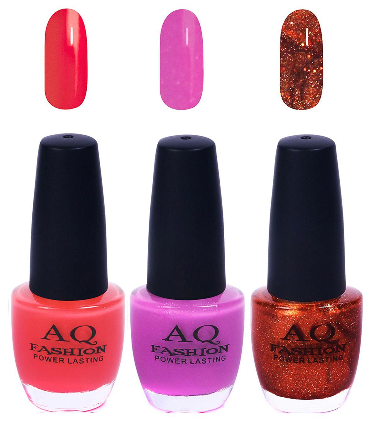 AQ Fashion Nail Polish Funky Vibrant Range of Colors Matte 36 ml