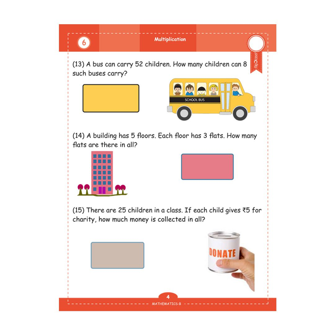 Genius Kids Worksheets (Bundle) for Class 2 (Grade-2) - Set of 6 Workbooks  (English, Mathematics and Science)