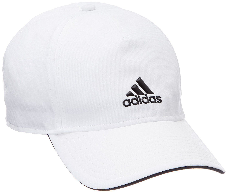 Adidas White Plain Polyester Caps