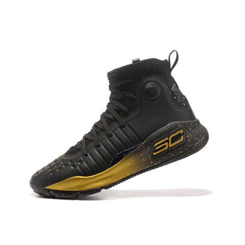 dd11e14a6e8 Under Armour STEPHEN CURRY 4 GOLD Black Basketball Shoes - Buy Under ...