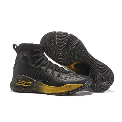 save off 93601 8b09f ... Under Armour STEPHEN CURRY 4 GOLD Black Basketball Shoes ...