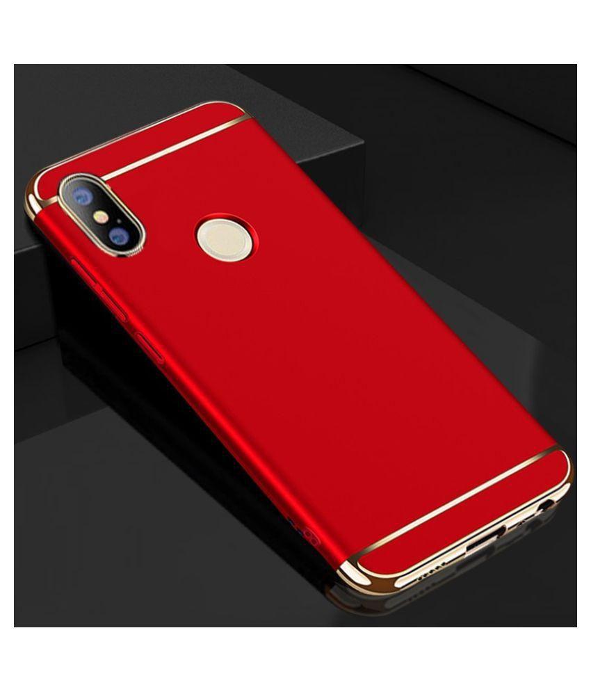 d17219ca26 ... Xiaomi Redmi Note 5 Pro Hybrid Covers JMA - Red 3 in 1 Design 360° ...