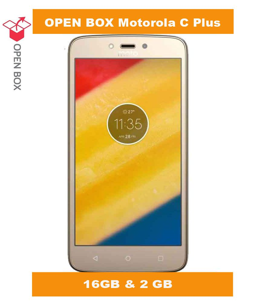 OPEN BOX Moto C Plus 16GB Gold 2 GB RAM (6 Month Brand Warranty)