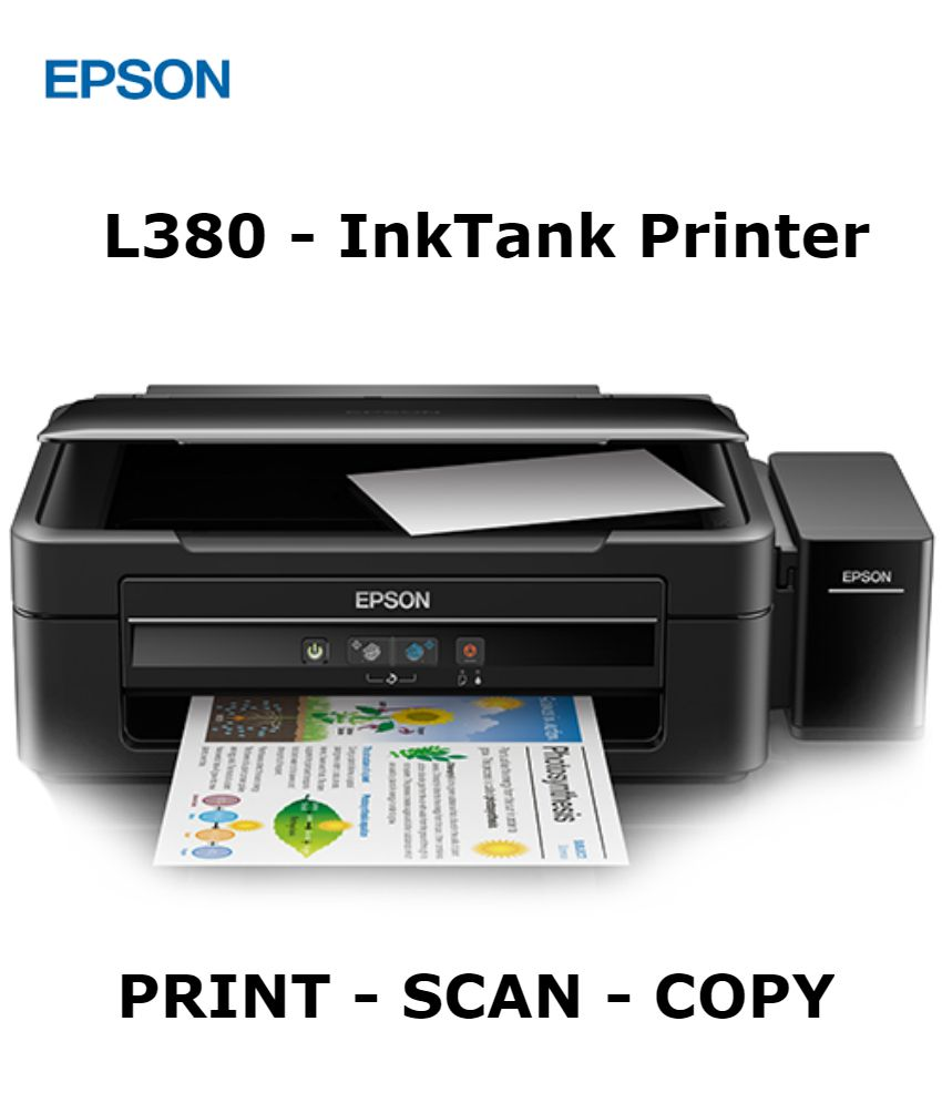 Epson L380 All In One Multi Function Colored Ink Tank Printer